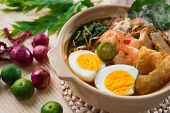 stock photo of malaysian food  - Prawn mee - JPG