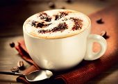 stock photo of hot coffee  - Cappuccino - JPG