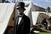Abraham Lincoln At Union Encampment
