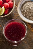 Raspberry And Chia Seed Beverage