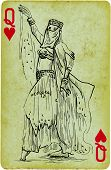 stock photo of mesopotamia  - Playing card with the drawn figure - JPG