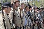 konföderierte Soldaten lineup