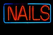 neon signs and symbols isolated on black. neon symbols and words and letters are easily copied and p