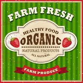 pic of farm  - Retro Farm Fresh Poster Design - JPG
