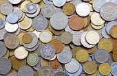 image of copper coins  - Collection of the old circulated coins - JPG