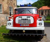 SVATY JAN POD SKALOU, CZECH REPUBLIC - JUNE 9: Historic czech firetruck CAS 32 - T 148 from 1961 yea