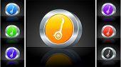 Segway Icon on 3D Button with Metallic Rim