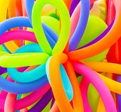 foto of fill  - Colorful inflatable balloons background - JPG