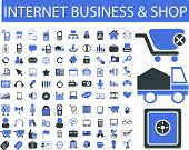 Internet-marketing, Business, Einzelhandel, Shop-Logistik, Vektor-Icons, Zeichen-set