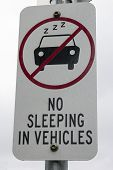No Sleeping In Vehicles