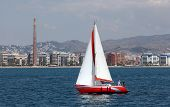 Sailing Yacht In Front Of Malaga