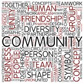 Word cloud - community