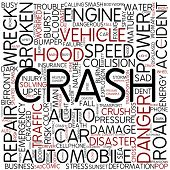 Word cloud - crash