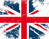 British flag grunge. Vector