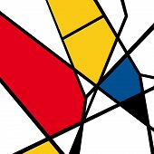 foto of masterpiece  - Vector of Mondrian masterpieces - JPG