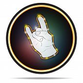 Rock Hand Sign. Vector Icon.