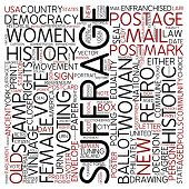 Word cloud - suffrage