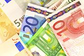 European currency money background.