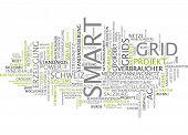 image of smart grid  - Word cloud  - JPG