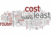 Word cloud - least cost routing
