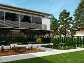 Modern design house exterior