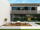 Exterior da casa de design moderno