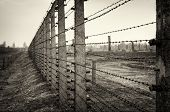 stock photo of deportation  - Nazi Concentration Camp Auschwitz Birkenau - JPG