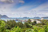 View Of Victoria Port, Mahe, Seychelles