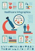 stock photo of medical chart  - Flat Medical Infographics Elements plus Icon Set - JPG