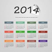 Calendar 2014 - Vector Illustration Design