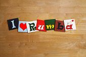 I Love Rumba, Cuba, Sign Series For Dance, Music, Singing.