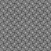 Seamless op art texture with circle elements. Vector art.