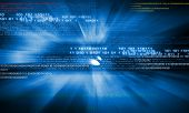 stock photo of security  - Background digital image with binary code - JPG