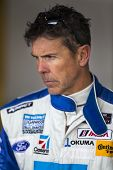 Daytona Beach, FL - Jan 03, 2014:  Scott Pruett watches his crew prepare his car before the Roar Bef