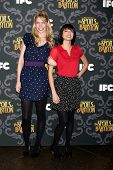 LOS ANGELES - JAN 7:  Riki Lindhome, Kate Micucci at the IFC's