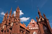 Beautiful Gothic Style St. Anne Church in Vilnius