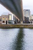 Big Bridge Over The Maas River In Maastricht, Netherlands