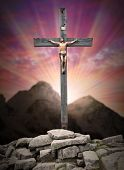 stock photo of inri  - Jesus Christ on The Cross - JPG