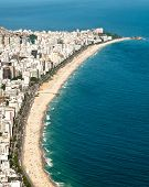Aerial View of Ipanema and Leblon Beach