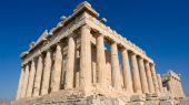 stock photo of akropolis  - The Parthenon in Athens Akropolis - JPG