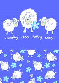 Counting sheep.