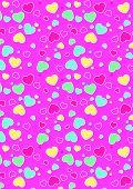 Cute hearts pattern.