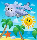 Image with airplane theme 4 - eps10 vector illustration.