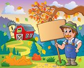 Farmer theme image 9 - eps10 vector illustration.