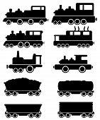 set train and railroad car