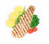 image of pangasius  - Pangasius fillet on plate - JPG