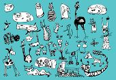 image of fanny  - Vector cartoon fanny animals set - JPG