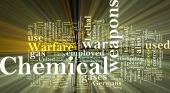Chemical Weapons Word Cloud Glowing