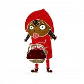 stock photo of little red riding hood  - little red riding hood cartoon - JPG