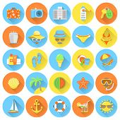 Round Summer Icons